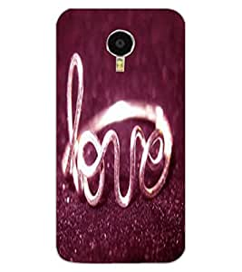 ColourCraft Love Ring Design Back Case Cover for MEIZU BLUE CHARM NOTE 3