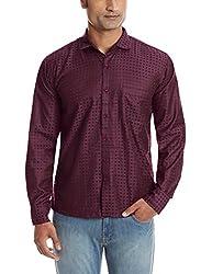 Dennison Men's Casual Shirt (SS-16-429_38_Purple)
