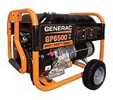 Generac 5940 GP6500 8,000 Watt 389cc OHV Portable Gas Powered Generator