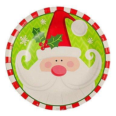 TTOMI Santa Claus motif jetable assiettes en papier 20pcs / sac