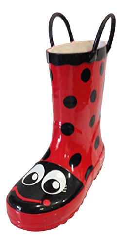 Girls Red Toddlers / Kids, Rain Boots Polka Dot, Little Lady