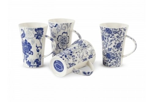 Maxwell & Williams Blue Tapestry 11.5-Oz Mug - Set Of 4 - Gift Boxed