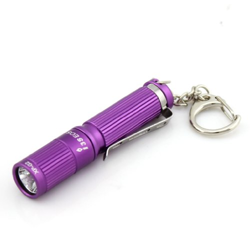 Olight I3S Eos Colorfull Flashlight Compact Design Stylish Appearance Cree Xp-G2 Led Max Output Of 80 Lumens Gift Box Packing Key Chain Flashlight Aaa Battery Torch Purple