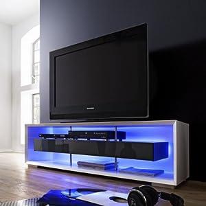 Mueble tv mueble comedor con leds acabado lacado blanco for Amazon muebles comedor