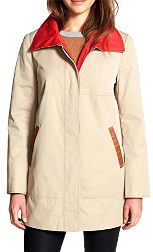 Ellen Tracy Womens Short Trench Coat, Beige, 8