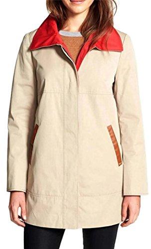 Ellen Tracy Womens Short Trench Coat, Beige, 8