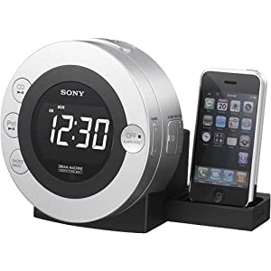 Sony ICFCD3iP 30-Pin iPod/iPhone Alarm Clock Speaker Dock with CD Player