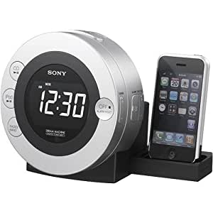 Sony ICFCD3IP 30-Pin iPhone/iPod Clock Radio Speaker Dock with CD Player (Silver) (Discontinued by Manufacturer)