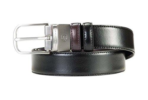 Piquadro- Cintura uomo con fibbia ad ardiglione- Colore : Nero-Marrone- Taglia : T.U