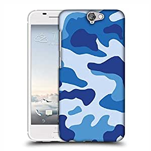 Snoogg Big blue camouflage 2786 Designer Protective Back Case Cover For HTC one A9
