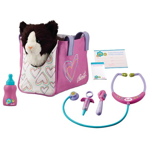 Barbie Pet Doctor Kit with Cat - Buy Barbie Pet Doctor Kit with Cat - Purchase Barbie Pet Doctor Kit with Cat (Barbie, Toys & Games,Categories,Pretend Play & Dress-up,Sets,Police Fire Medical & Rescue)