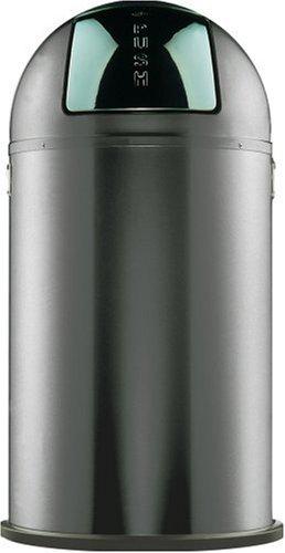 Wesco Pushboy Chroom.Wesco Pushboy Powder Coated Steel Waste Bin 50 Litre