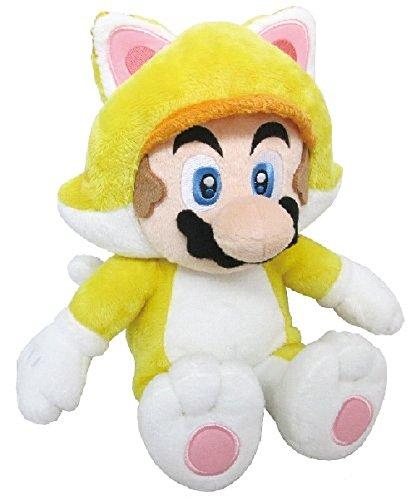 Mascotte Peluche Super Mario 3d world Gatto Mario M Plush Mascot Seduta altezza 22cm