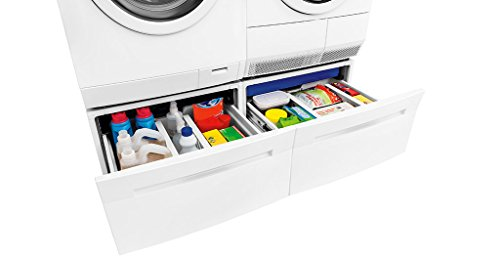 Electrolux EIFLS20QSW Washer & EIED200QSW Electric Dryer Set w/Stacking Kit