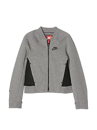 Nike Sudadera con Cierre Tech Fleece (Gris / Negro)