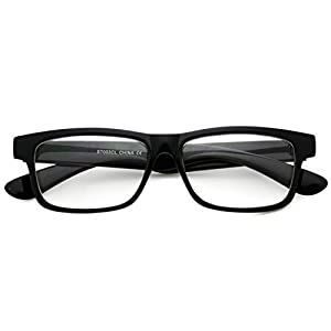 Small Square Wayfarer Nerd Glasses Thin Frame Clear Lens Optical Quality