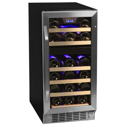 Buy Bargain EdgeStar Dual Zone Stainless Steel Built-In Wine Cooler