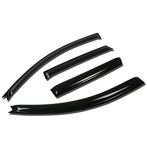 Mazda 3 BK Hatchback 4pcs Window Vent Visor Deflector Rain Guard (Dark Smoke) (Body Kit Mazda 3 compare prices)