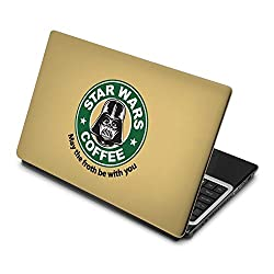 3M clickforsign 'Official' Star wars Cofee May Be Froth be With You Laptop Skin / Decals EG-0218