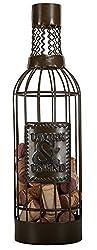 C.R. Gibson Metal Wine Cage Cork Holder, Uncork and Unwind