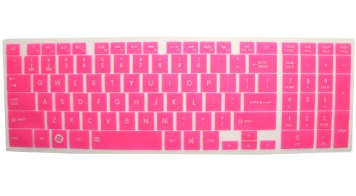 Silicone Laptop Keyboard Cover Skin Protector For Toshiba Satellite C850 C855 C855D C870 C875 C875D Us Layout (Pink Semitransparent)