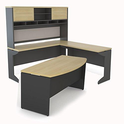Altra Pursuit U Shaped Desk With Hutch Bundle Natural