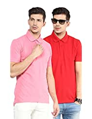 Yellow Submarine Men'S Pack Of 2 Cotton Polo T-Shirt With Collar - B010AOQHQ6