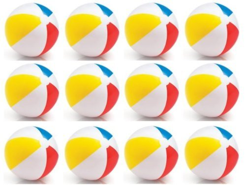 INTEX Classic Inflatable Glossy Panel Colorful Beach Ball – (Set of 12) |59020EP by Intex günstig bestellen
