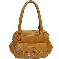 Frenchxd Stephanie Hayden Fancy Stylish Handbag for Women (Yellow)