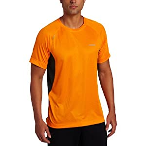 Reebok Men's Spt Ess Ss-R S12 Short Sleeve Run Top, Maximum Orange, Medium