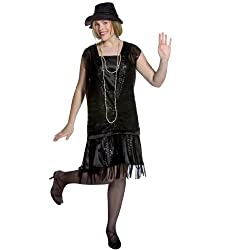 Gatsby Girl (Black) Plus Adult - Plus (16-20) - Adult Costumes