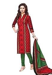 Aarvi Women's Cotton Unstiched Dress Material Multicolor -CV00118
