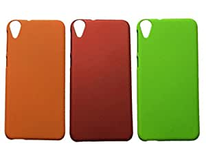 3 Pieces Winsome Deal Exclusive Hard Back Cover Case for HTC Desire 820