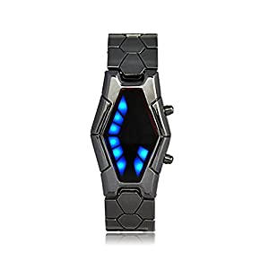 Binary Fashion Led Watch Japanese Style Inspired Led Watch Sports Outdoors