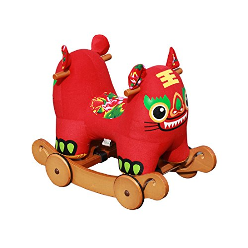 Hessie 1 Year Up Baby Rocking Horse With Wheels - Red Tiger front-207405