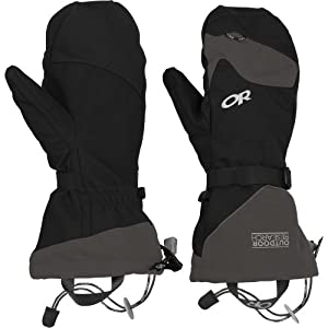 Outdoor Research Meteor Mitts (Black/Charcoal, Small)