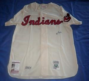 AL LOPEZ Signed M&N 1954 Indians Jersey HOF JSA Indians White Sox Cleveland by Signed+Jersey
