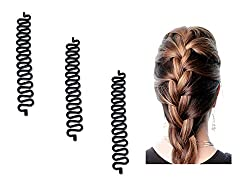 Homeoculture 3pcs/lot Women Fashion Hair Styling Clip Hair Braider Twist Styling Braid Tool | Easy to use