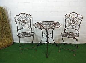sitzgruppe tischgruppe gartenstuhl eisen gartentisch metall nostalgie vintage. Black Bedroom Furniture Sets. Home Design Ideas