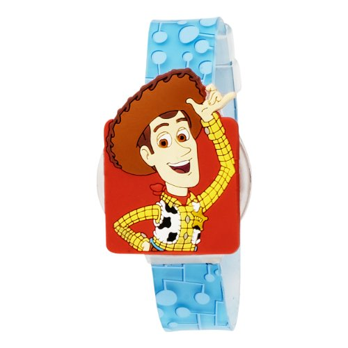Disney Kids' TOY002T Toy Story Blue and White Digital Watch with Interchangeable Strap Tin Gift Set