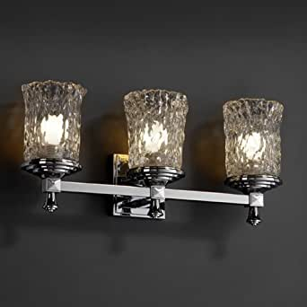 Justice Design Group Gla 8533 Deco 3 Light Bathroom Light Vanity Lighting Fixtures