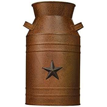 Milk Can Container with Star Attached