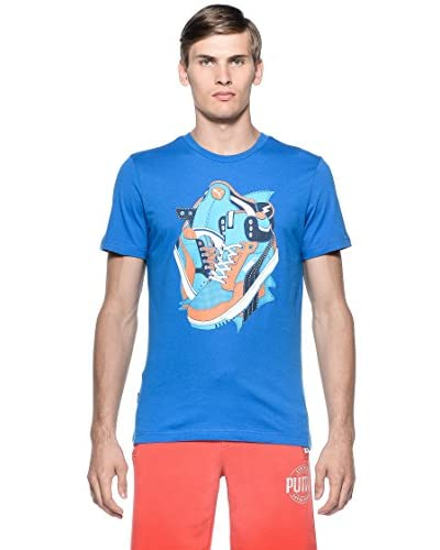 Puma Camiseta Manga Corta Ftw Victoria Azul