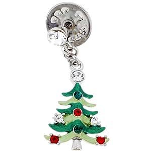 Green Christmas Tree Lapel Pin