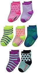 OshKosh BGosh Baby Baby-Girls Newborn 7 Pack Days Of The Week Polka Dot Socks, Multi-Color, 3-12 Months