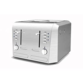 DeLonghi CTH4003 Pro-Metal 4-Slice Toaster