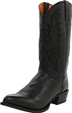 Lucchese Men's Handcrafted 1883 Western Lone Star Calf Cowboy Boot Round Toe Black US