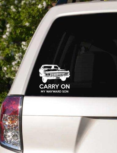 Supernatural inspired Carry on my wayward son Impala Car