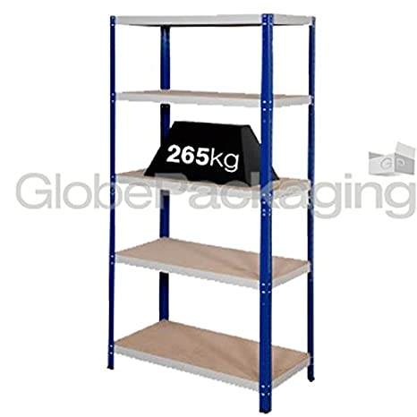 4 x Heavy Duty Shelving Storage Racking 265 Kg For Warehouse Garage Office etc -1770x900x600mm