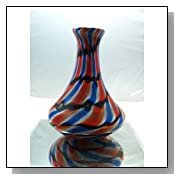 Murano Design Beautiful Rainbow Heavy Glass Art Vase